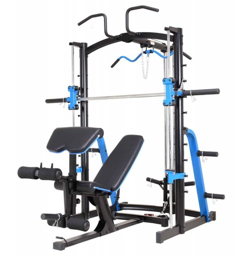 SMITH MACHINE COMBO WITH 100KG OF WEIGHTS PLATES