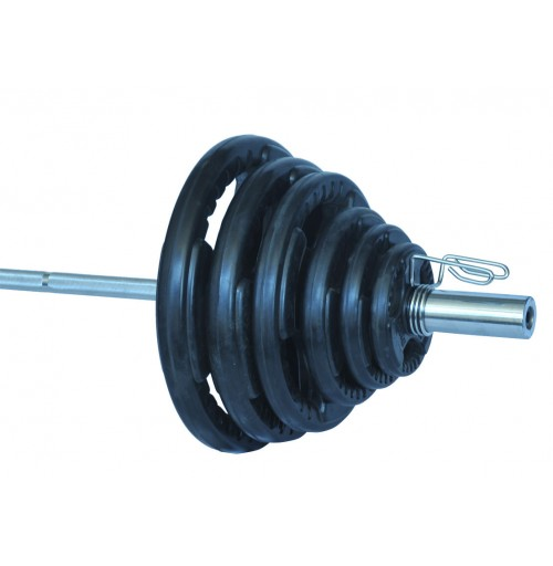 Rubber Coated Olympic Weight Package 100kg  + Bar